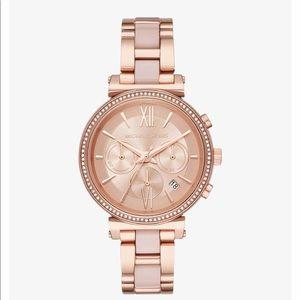 Michael Kors Sofie Pavé Rose Gold Watch